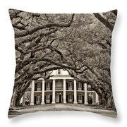 The Old South Sepia Throw Pillow by Steve Harrington