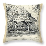 The Old Stocks Walsall Throw Pillow