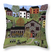 The Old Stone Convent Throw Pillow