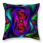 The Old Stuffed Chair - Fractal Throw Pillow