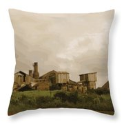 The Old Sugar Mill At Koloa Throw Pillow