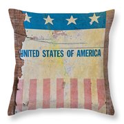 The Old Tag Throw Pillow