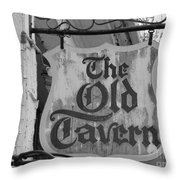 The Old Tavern Throw Pillow