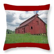 The Old Abandon Tobacco Barn Throw Pillow