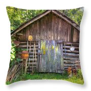 The Old Tool Shed II Throw Pillow by Lanita Williams