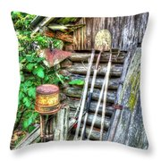 The Old Tool Shed Throw Pillow by Lanita Williams
