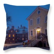 The Old Town House Throw Pillow