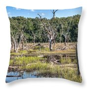 The Old Tree Graveyard Throw Pillow