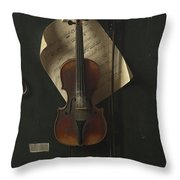 The Old Violin Throw Pillow
