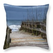 The Old Walkway Throw Pillow