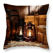 The Old Warehouse Throw Pillow by Olivier Le Queinec