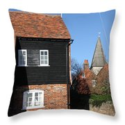 The Old Water Mill Bosham Throw Pillow