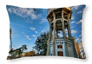 The Old Water Tower Of Tel Aviv Throw Pillow by Ron Shoshani