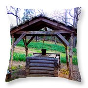 The Old Water Well Throw Pillow