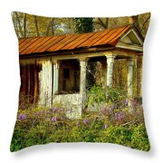 The Old Well House Throw Pillow