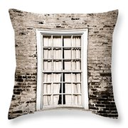 The Old Window Throw Pillow by Olivier Le Queinec