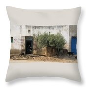 The Old Women And The Goats Throw Pillow