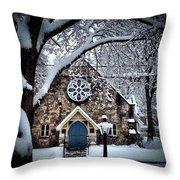 The Olde Stone Church Throw Pillow