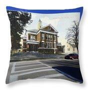 The Oliver School In Bristol Rhode Island Throw Pillow