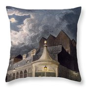 The Olympic Theatre, 1826 Throw Pillow
