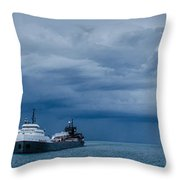 The Oncoming Storm Throw Pillow