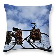 The Onion Bicycle Throw Pillow