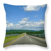 The Open Highway Throw Pillow