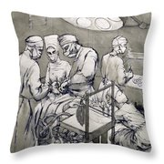 The Operation Theatre, 1966 Throw Pillow