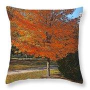 The Orange Tree Throw Pillow
