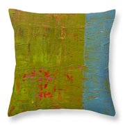 The Orange Wedge Throw Pillow by Michelle Calkins