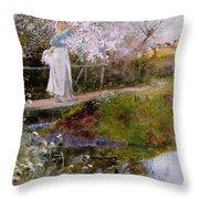 The Orchard Brook  Throw Pillow
