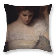 The Orchid Throw Pillow