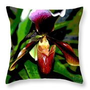The Orchid Room Throw Pillow