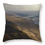 The Oregon Coastline Throw Pillow