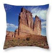 The Organ, Arches National Park, Utah Throw Pillow
