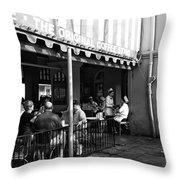 The Original Coffee Stand Mono Throw Pillow