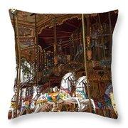 The Original French Carousel Throw Pillow