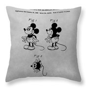 The Original Mickey Mouse Patent Design Throw Pillow