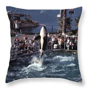 The Original Shamu Orca Sea World San Diego 1967 Throw Pillow