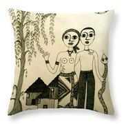 The Original Sin Throw Pillow