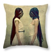 The Orphans Throw Pillow by Pawel Piatek