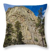 The Other Side Of Devils Tower Throw Pillow