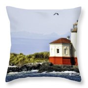 The Other Side Of The Coquille River Throw Pillow