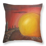 The Other Side Of The Sunset Throw Pillow
