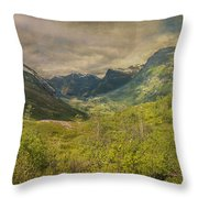 The Other Side Of Trollstigen Norway Throw Pillow