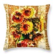 The Other Sunflowers Throw Pillow