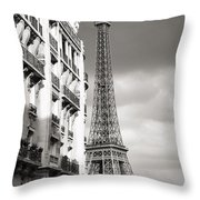 The Other View Of The Eiffel Tower Throw Pillow