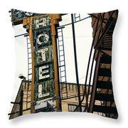 The Otis Hotel Throw Pillow