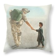 The Outcome Of War Is In Our Hands Throw Pillow