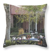 The Outdoor Cafe Throw Pillow